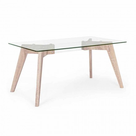 Homemotion Modern Design Dining Table with Glass Top - Piovra