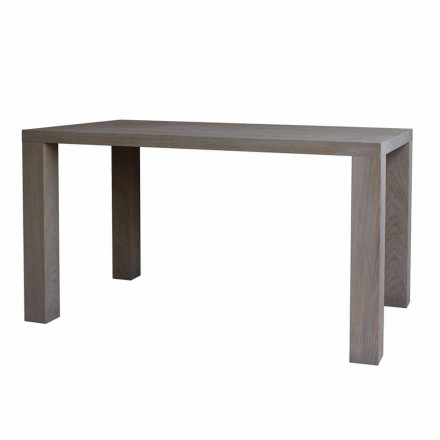 Modern design dining table in solid oak, L160xP90cm, Loran