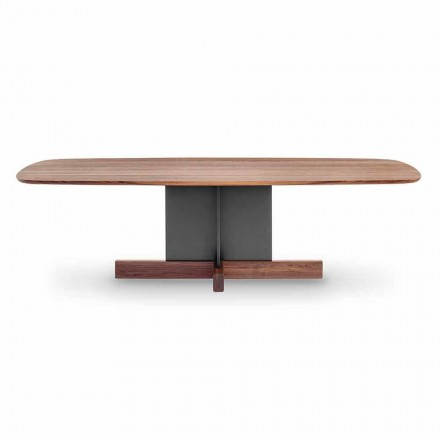 Design Dining Table with Cross Base Made in Italy - Bonaldo Cross Table