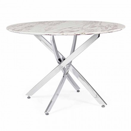 Design Dining Table with Round Top in Mdf Homemotion - Gregory