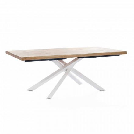Design Dining Table in Wood and Metal Made in Italy - Skipper