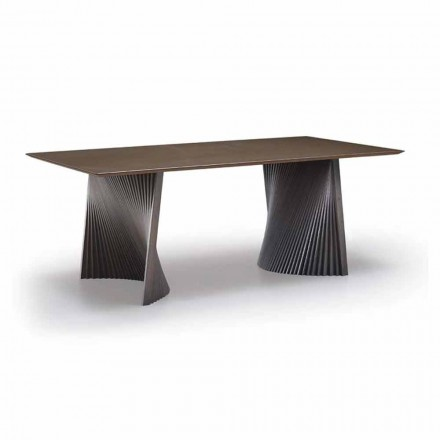 High Quality Dining Table in Gres and Ash Made in Italy - Charol