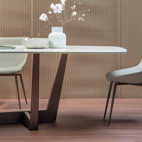Bronze Ceramic and Metal Dining Table Made in Italy - Art