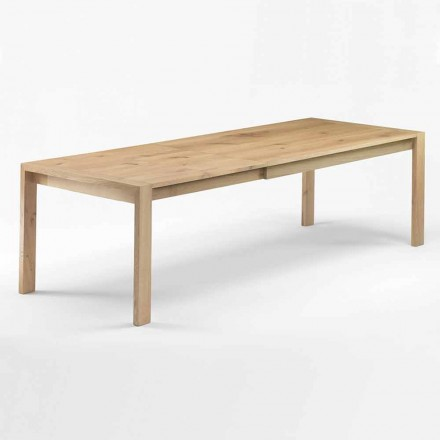 Extendable Wooden Dining Table Up to 340 cm Made in Italy - Willow