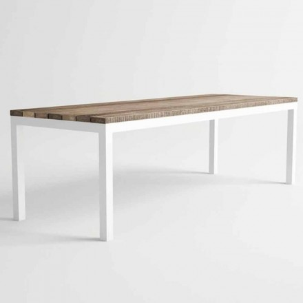 Modern Design Outdoor Wood and Aluminum Dining Table - Ganges