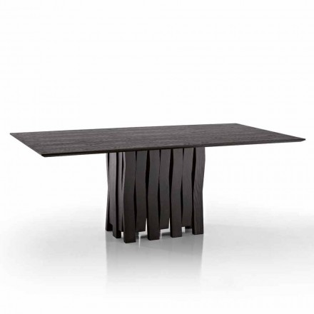 Design dining table in MDF wood made in Italy, Egisto