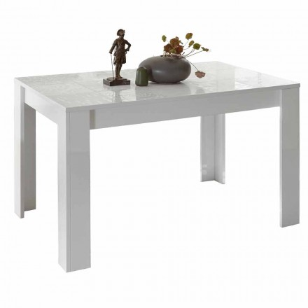 Dining Table in Melamine Extendable up to 185 cm Made in Italy - Aneta