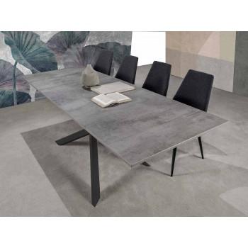Modern Extendable Dining Table, Laminate Floor - Marliana