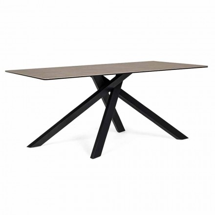 Modern Dining Table with Ceramic and Glass Top Homemotion - Ringo