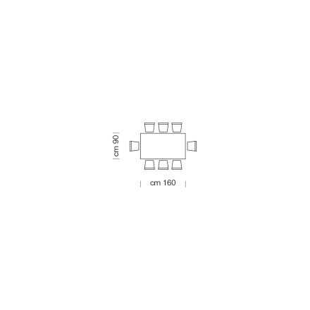Modern Dining Table up to 14 Seats in Glass and Steel Made in Italy - Grotta