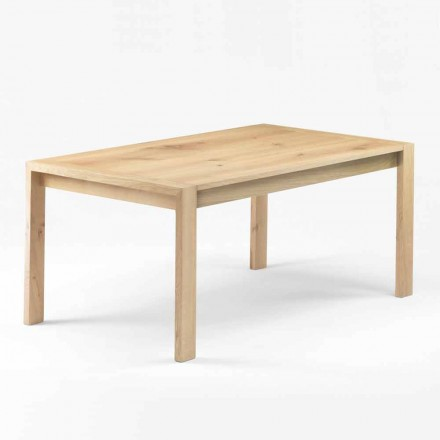 Modern Dining Table in Solid Oak Wood Made in Italy - Willow