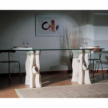 Made in Italy dining table made of Vicenza natural stone Daiana