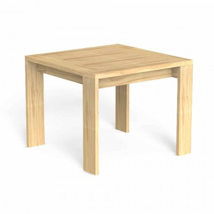Square Design Outdoor Dining Table in Precious Wood - Argo by Talenti