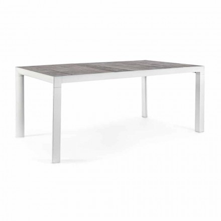Outdoor Dining Table with Ceramic Top and Aluminum Base - Jen
