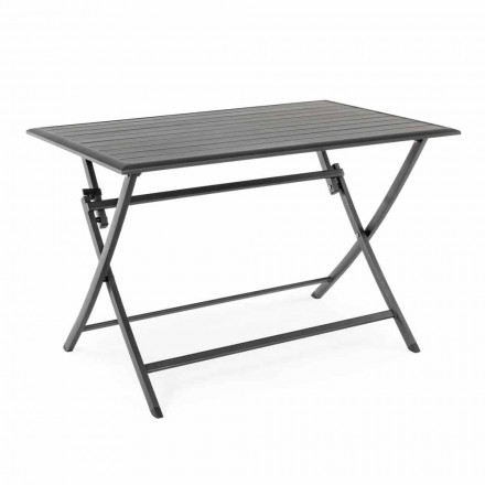 Outdoor Dining Table in Aluminum with Folding Structure - Hunt
