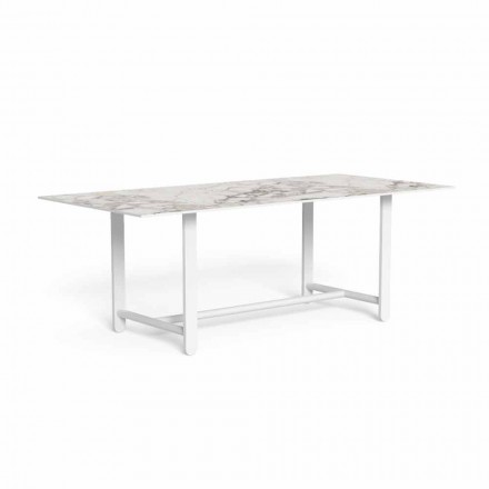 Outdoor Dining Table with Gres Top, High Quality - Riviera by Talenti