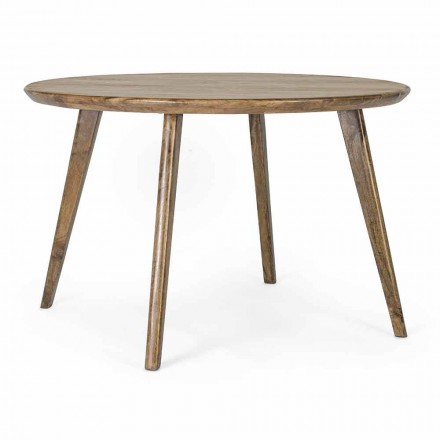 Homemotion Round Dining Table with Mango Wood Top - Rondolo