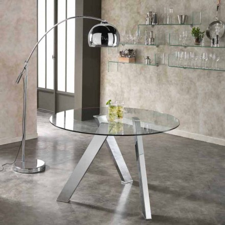 Round glass table Adamo, modern design