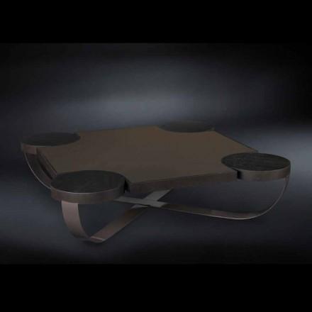 Oak coffee table Drummond, moka colour