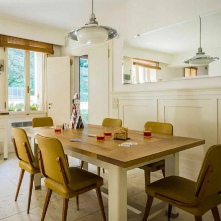 Modern design table in oak wood L180xP100cm, Willis