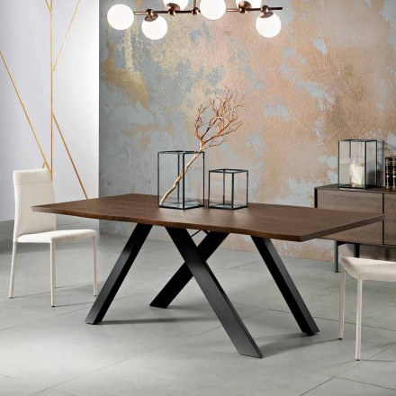 Design solid wood table made in Italy, Wilmer