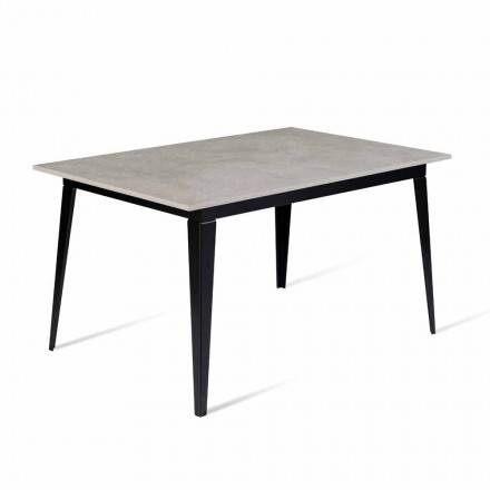 Design Table in Melamine Extendable Up to 190 cm Made in Italy - Miko