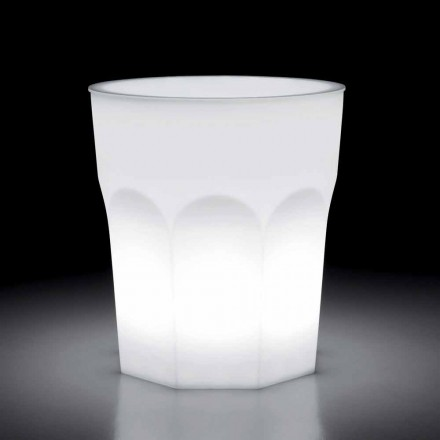 Outdoor Design Luminous Table in Polyethylene and Hpl Made in Italy - Pucca