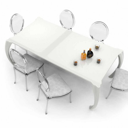 Modern design dining table made in Italy, Milzano