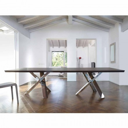 Modern design wood table 270x120 cm made in Italy Tree