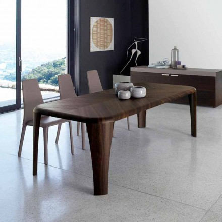 Modern design table in wood made in Italy by hand Wood
