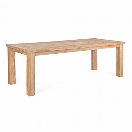 Garden Table in Design Teak Wood, 8 Homemotion Seats - Hunter