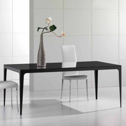 Dining table made of black marble, modern design, 190x100cm Dionisio