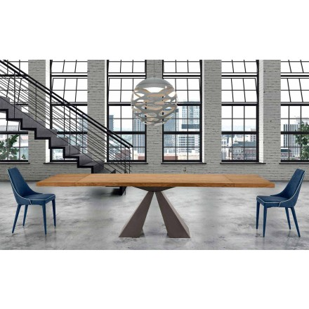 Modern Extendable Wood Table up to 300 cm – Dalmata
