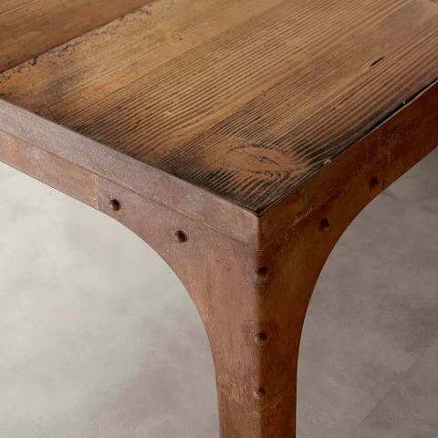 Achille solid fir wood table