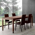 Extendable solid fir tree wood dining table Achille