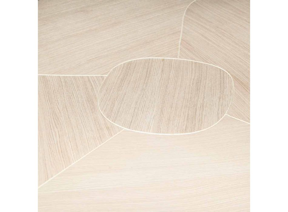 in brushed oak table with wax finish Andy