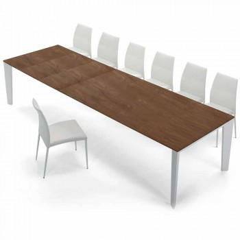 Venereed Wood Extendable Table up to 325 cm Made in Italy – Settanta