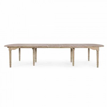 Extendable Solid Wood Table Up to 382 cm Homemotion - Brindisi