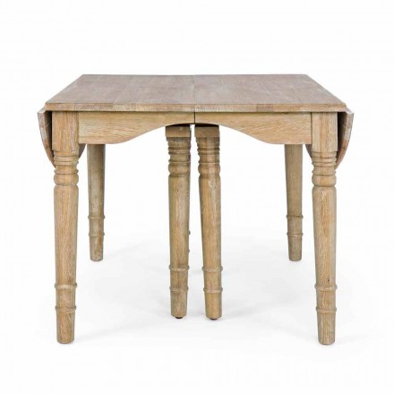 Classic Table in Solid Wood Extendable Up to 382 cm Homemotion - Brindisi