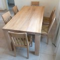 Classic Design Solid Ash Wood Table Made in Italy - Nicea