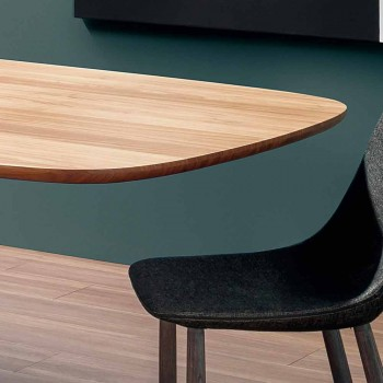 Modern Solid Wood Table Made in Italy - Bonaldo Mellow