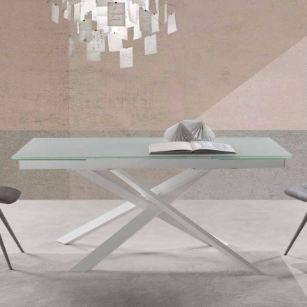 Modern design extendable table in glass – Marliana