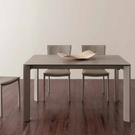 Modern design glass-ceramics extendable table up to 240 cm Terni