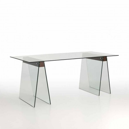 Modern Design Living Table with Glass Top and Glass Base - Lausanne