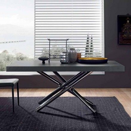 Modern Extendable Table Up to 280 cm in Wood Made in Italy - Adalberto