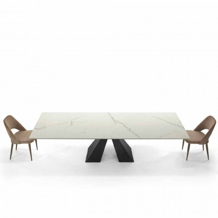 Modern Extendable Table up to 300 cm in Marble Made in Italy – Dalmata