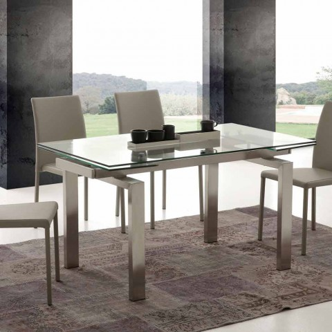 Tavoli Allungabili Vetro Temperato.Extending Dining Table Georgia Modern Design