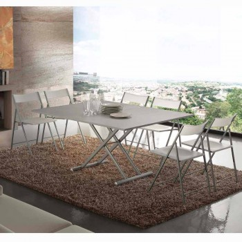 Extendable table or coffee table in Nuoro design