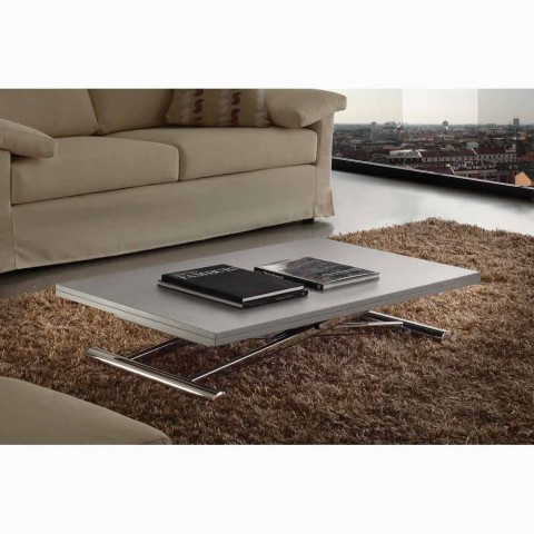 Extendable table or coffee table in Nuoro design melamine