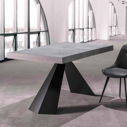 Dining Room Table with Extendable Top Up to 290 cm in Wood - Doriano